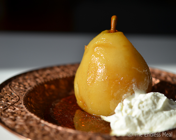 Amaretto Poached Pears
