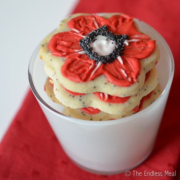 Lemon Poppy Sugar Cookies for Remembrance Day