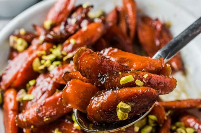 These easy to make Bourbon Maple Glazed Carrots are insanely delicious. They're lightly steamed then finished in a bourbon and maple syrup glaze that has a tiny hint of spice. Even though they're a healthy holiday favorite, you'll want to keep making this recipe all year long.   theendlessmeal.com