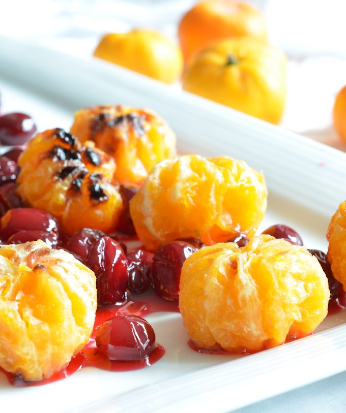 Candied Mandarin Oranges with Cranberries