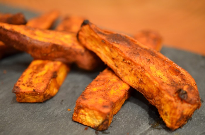 Sweet and Spicy Yam Wedges