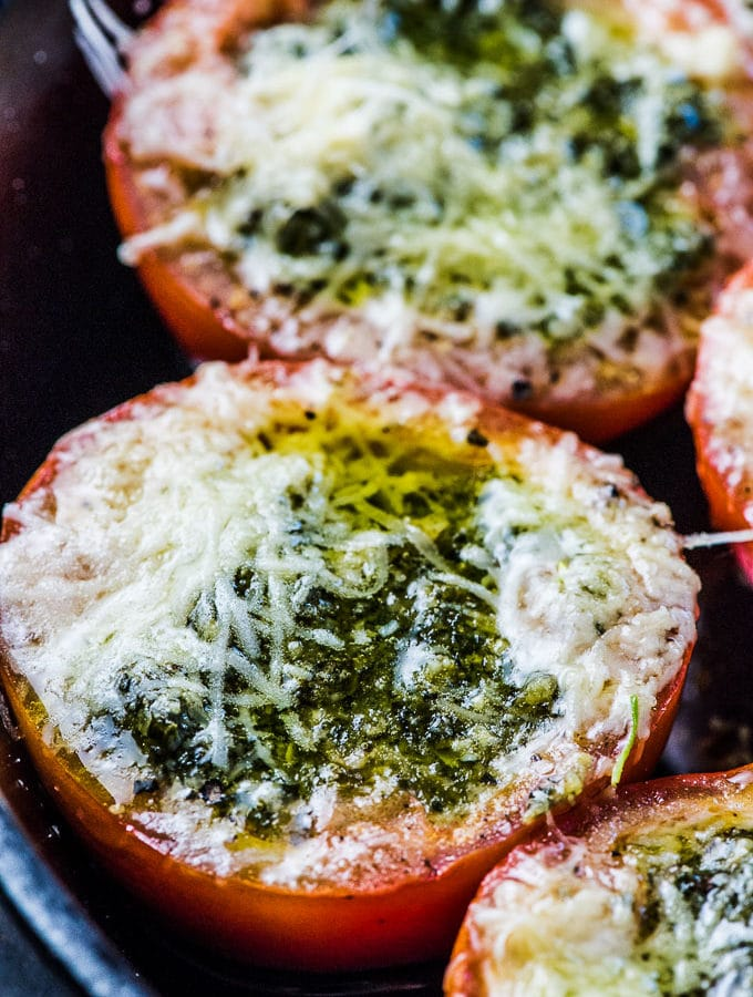 Pesto Stuffed Roasted Tomatoes