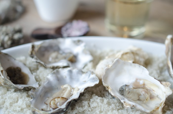 Oysters with a Champagne Mignonette