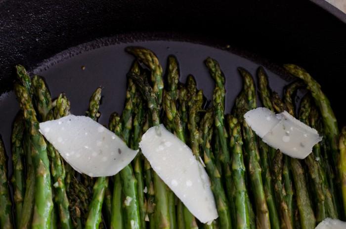 Sautéed Asparagus with Shaved Parmesan