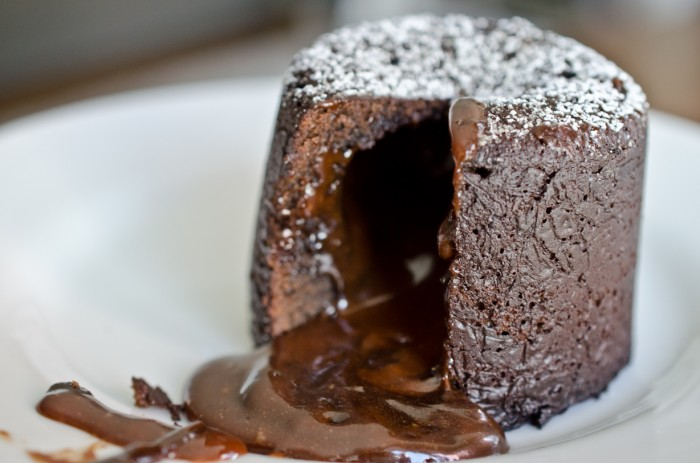 Chocolate Lava Cake with Salted Caramel