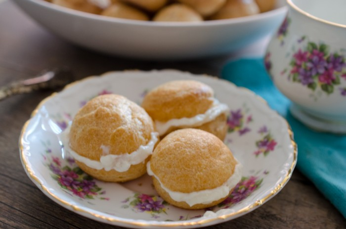 Profiteroles with Chantilly Cream