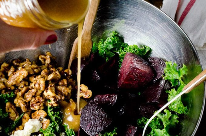 Roasted Beet and Kale Salad | theendlessmeal.com