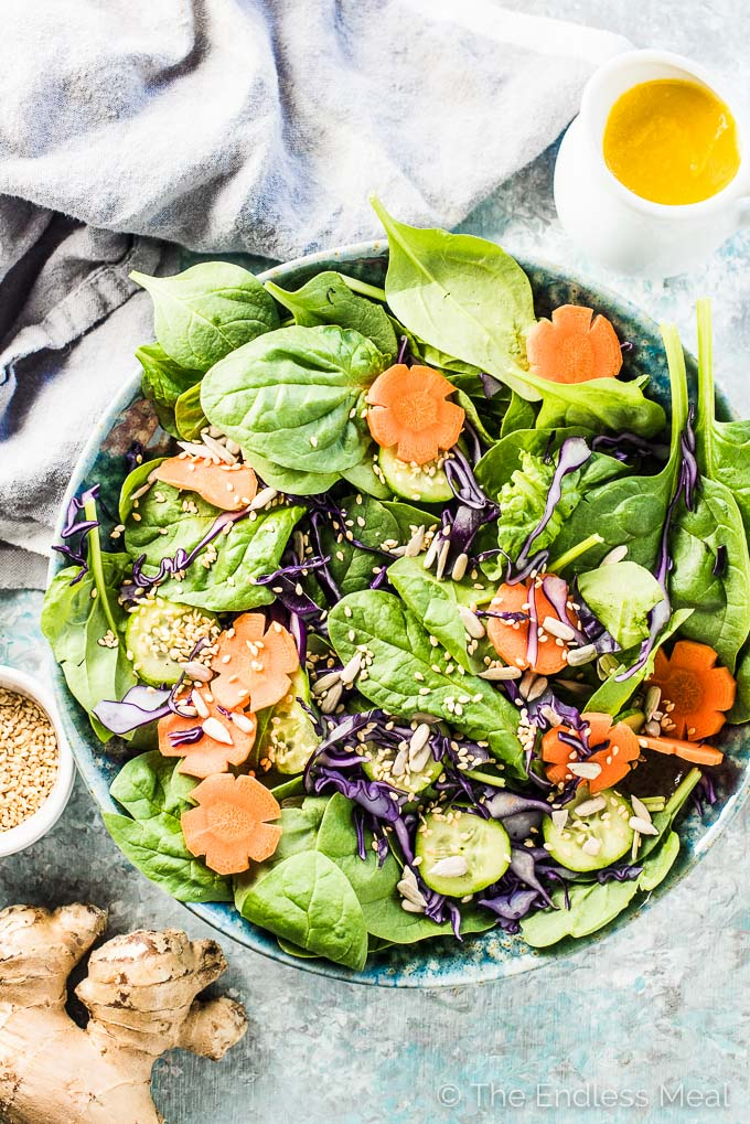 Japanese Carrot Ginger Salad Dressing | The Endless Meal
