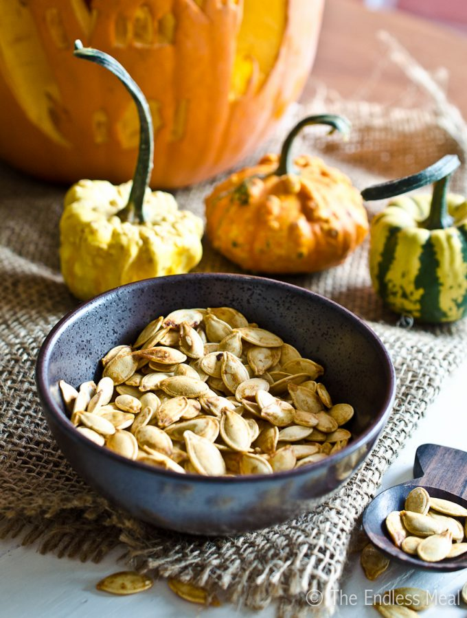 Roasted Pumpkin Seeds by The Endless Meal