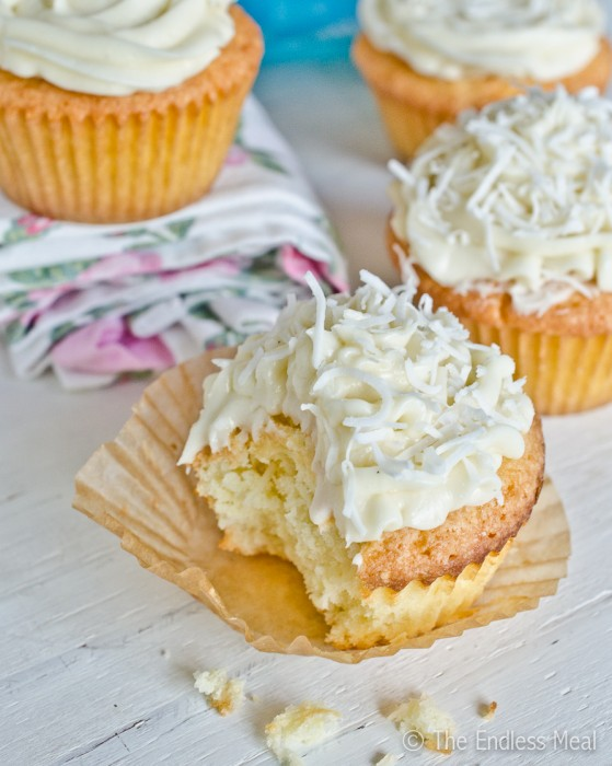Coconut Bourbon Cupcakes by The Endless Meal