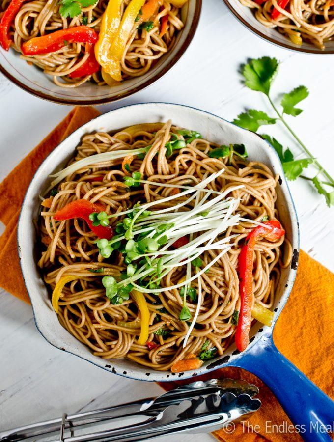 Stir Fried Soy Ginger Noodles | theendlessmeal.com