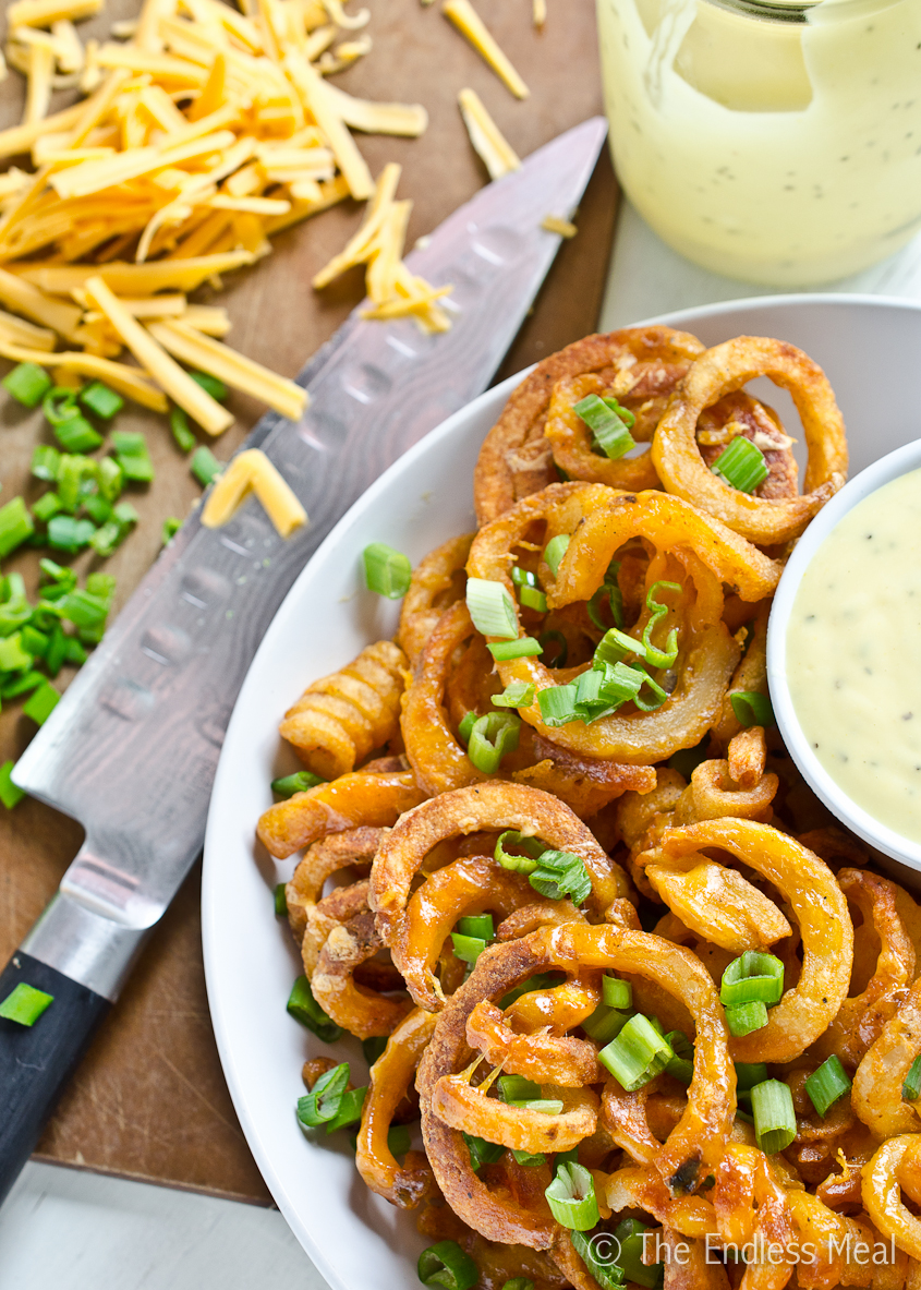 Cheesy Fries with Emerald Isle Sauce