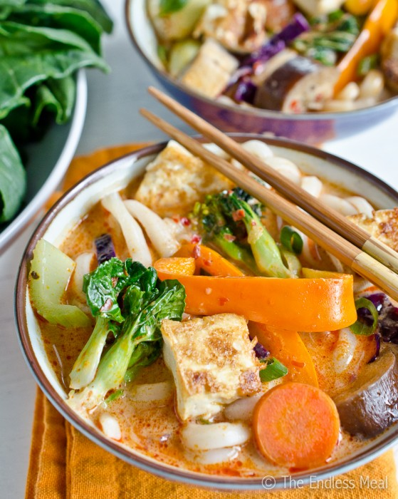 Vegetarian Thai Curry with Udon Noodles
