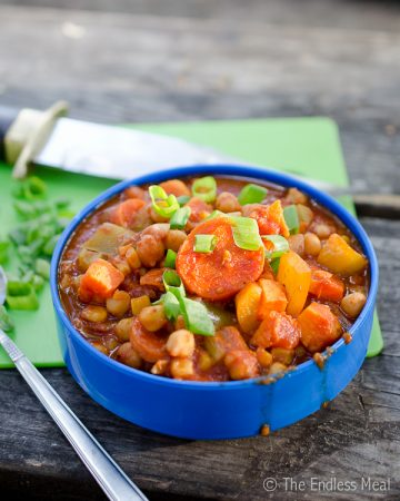 Chickpea and Yam Chili {vegan and gluten free}