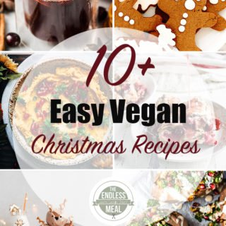 10+ Easy Vegan Christmas Recipes | It's Christmas time and we are bringing you over 19 easy and delicious vegan Christmas recipes! They are delicious even if you aren't vegan.