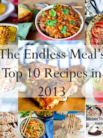 Top 10 Recipes in 2013