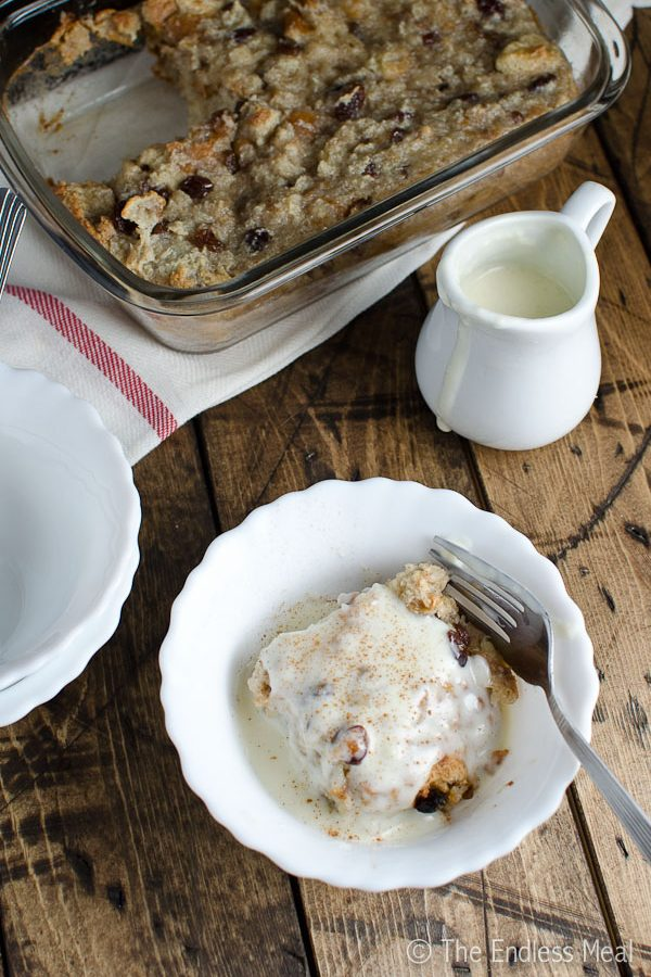 Easy Bread Pudding with Bourbon Cream Sauce