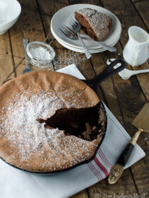 Dark Chocolate Skillet Soufflé