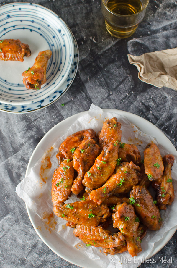 Baked Sriracha Buffalo Wings
