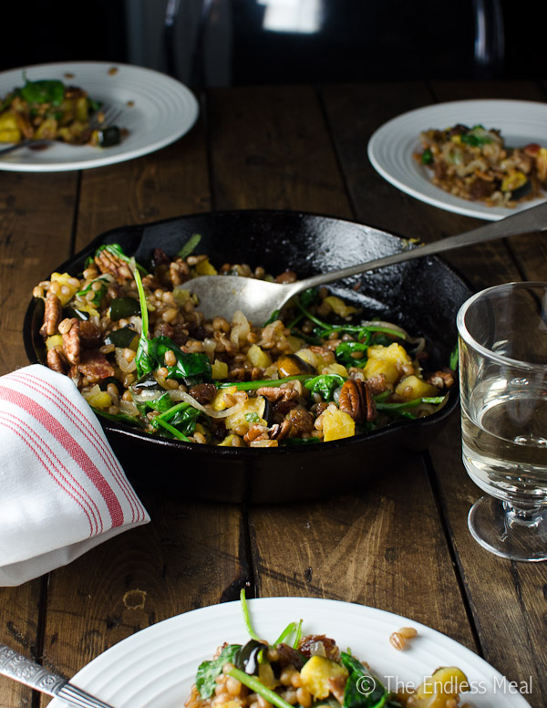 Wheat Berries with Caramelized Onions and Pecans