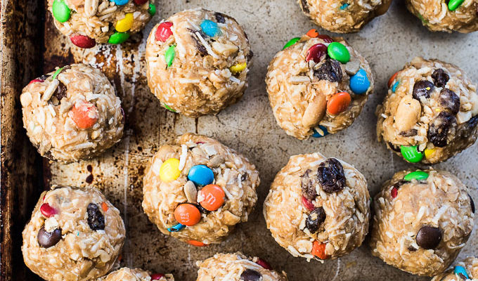 Healthy Trail Mix Protein Bites by The Endless Meal  | 13+ Healthy Back to School Lunch Ideas