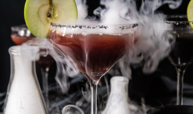Poison Apple Martinis by Half Baked Harvest | Halloween Dinner Party Menu Inspiration