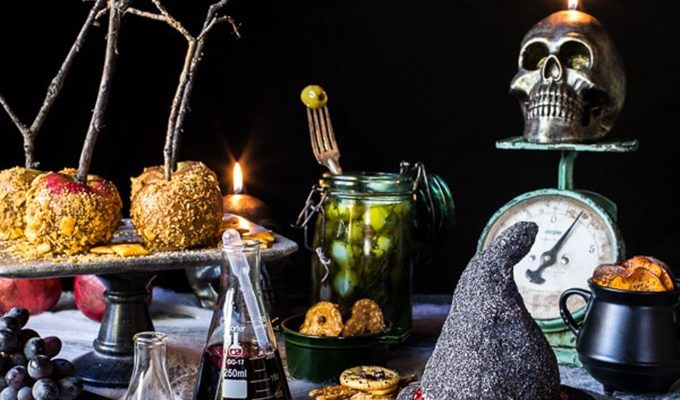 Deathly Hallows Cheese Board by Half Baked Harvest | Halloween Dinner Party Menu Inspiration