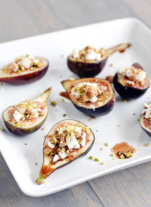 Sunday Supper :: 10.19.14 :: Fig and Goat Cheese Appetizers