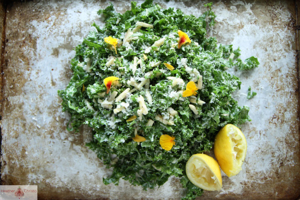 Sunday Supper :: 11.09.14 :: Kale Salad with Lemon Almonds and Pecorino