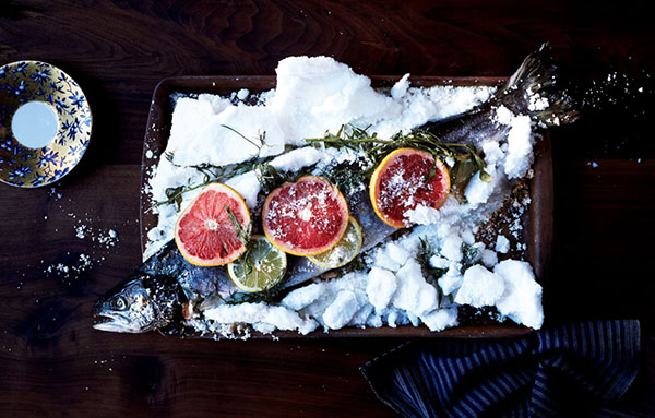 Sunday Supper :: 12.28.14 :: Salt Baked Salmon with Citrus and Herbs