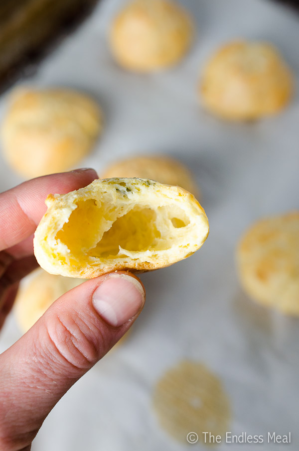 White Cheddar and Thyme Gougères with Smoked Maldon Sea Salt