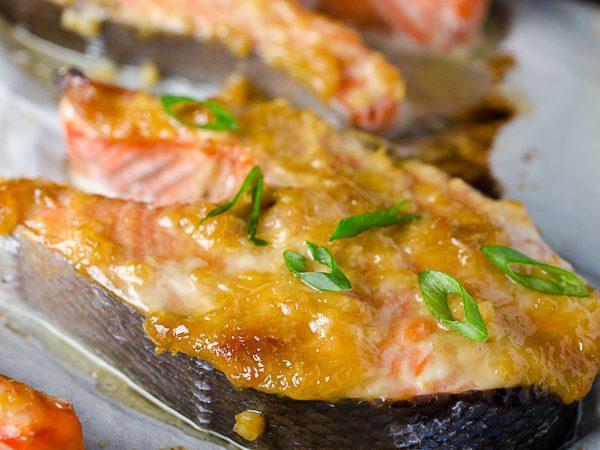 Ginger Miso Salmon Steaks