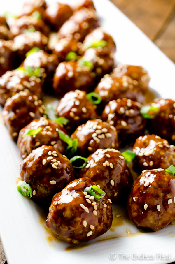 Sweet Hoisin Meatballs {paleo friendly + gluten free}