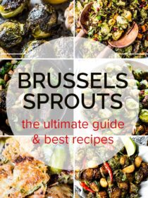 A collage of our 6 favorite brussels sprouts recipes
