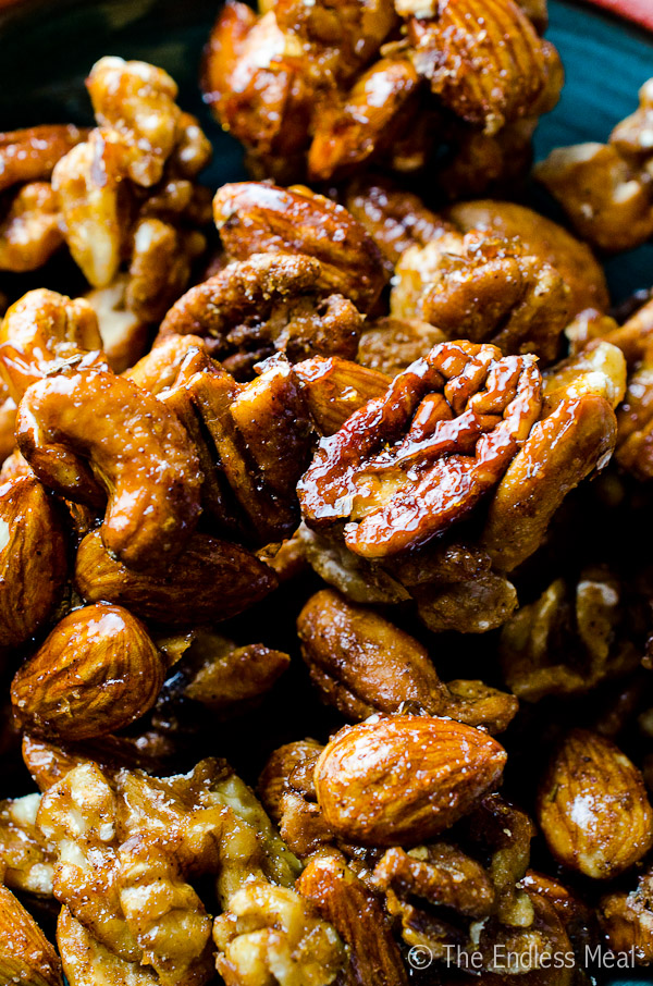 Spicy Rum and Rosemary Mixed Nuts