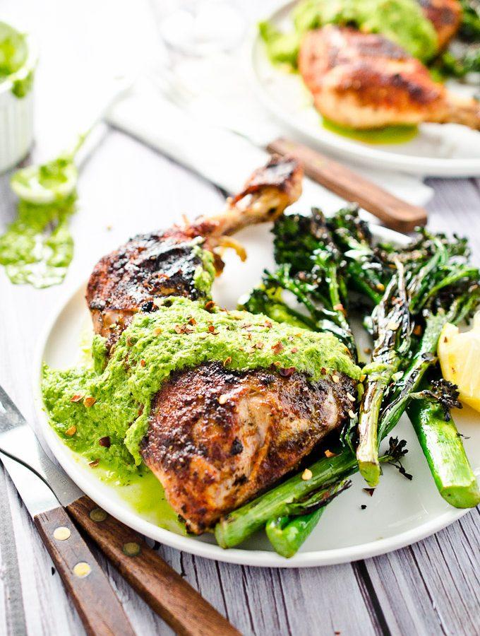 Chimichurri Chicken with Charred Broccolini