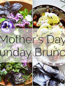 Mother's Day Brunch Menu that will take less than 2 hours to make + a timeline to help you get it all done on time.