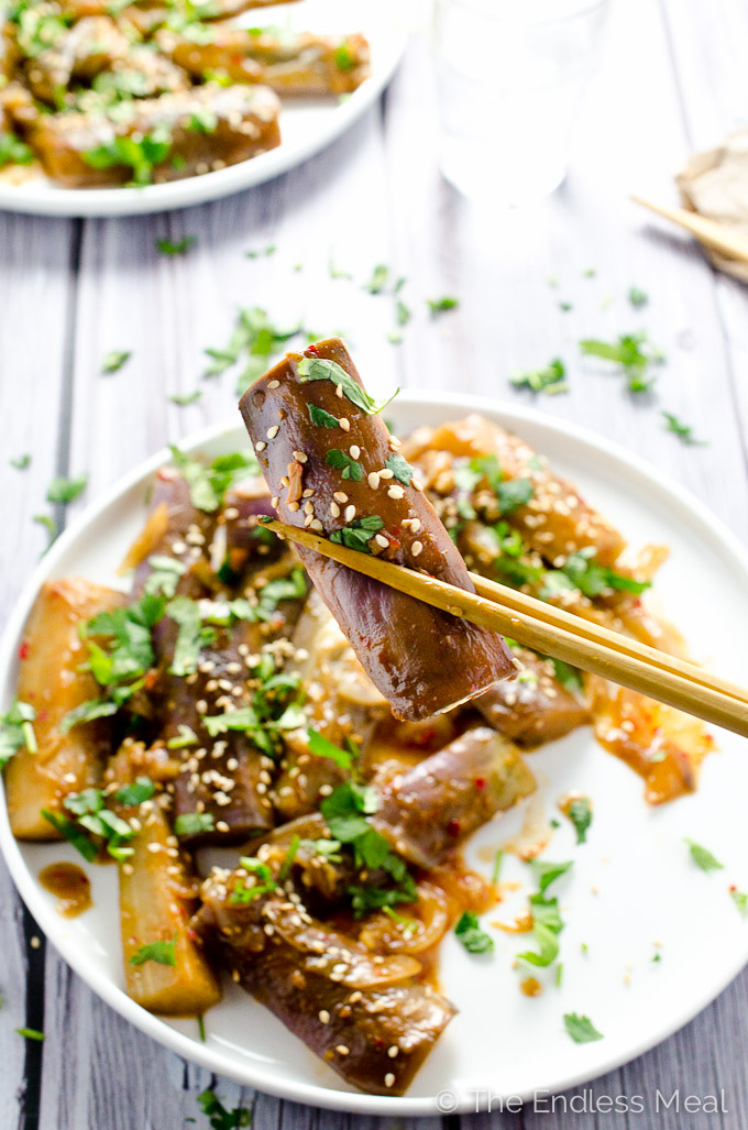 Sweet and Spicy Asian Eggplant