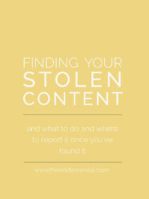 Learn how to find your stolen blog content and what to do once you've found it.