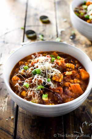 Chipotle Bourbon Pumpkin Chili