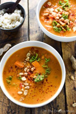 Coconut Red Lentil Peanut Soup