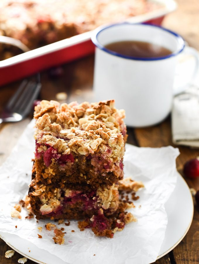 Healthy Cranberry Coffee Cake