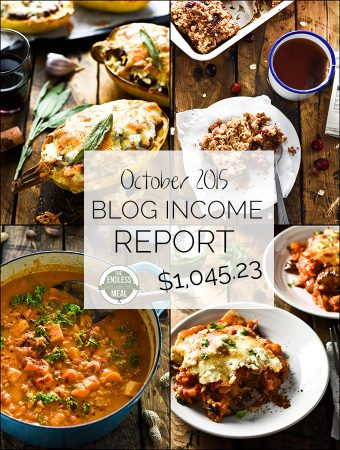 October Food Blog Income Report
