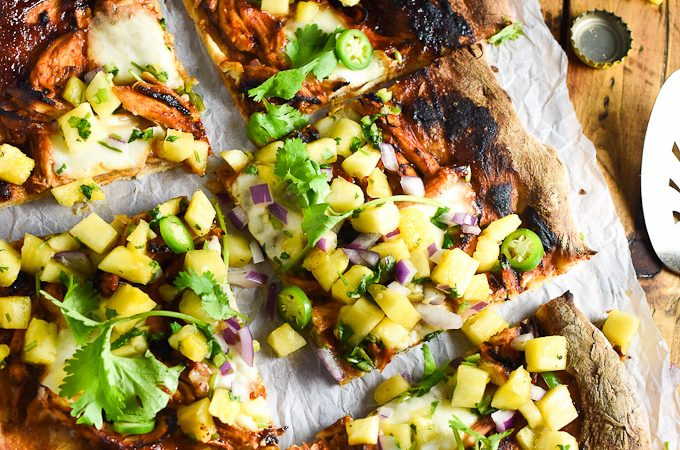 Pineapple Pulled Turkey Pizza | theendlessmeal.com