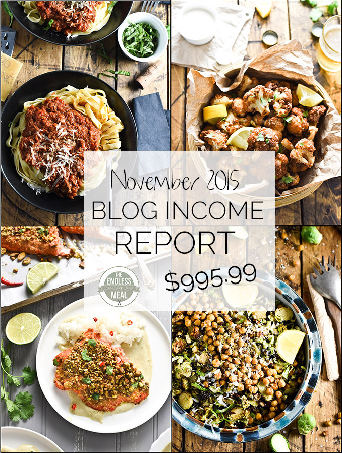 TEM's food blog income report is a great blogging resource with lots of tips and tricks for making your blog a success. | theendlessmeal.com
