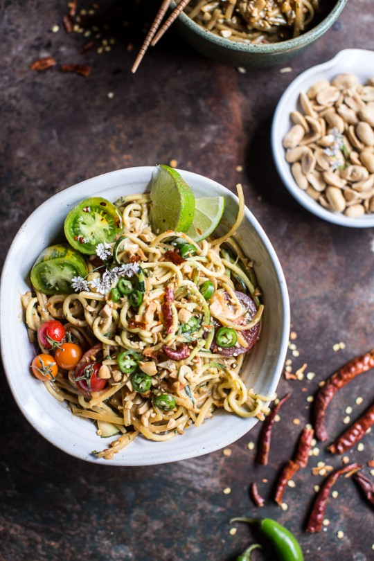 The 15 Best Healthy Recipes for a New Year | Firey Schezwan Peanut and Chili Zucchini Noodles by Half Baked Harvest