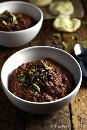 Vegetarian Chocolate Quinoa Chili