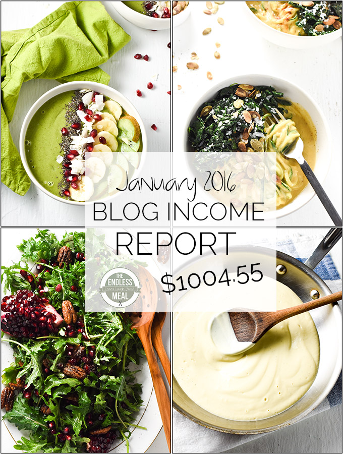January Food Blog Income Report