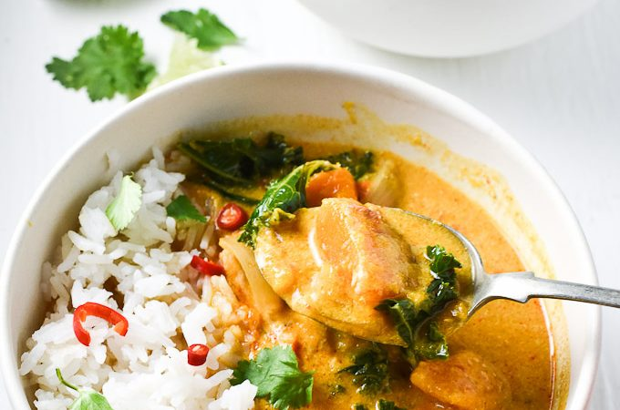 The 15 Best Gluten-Free Crock Pot Recipes |Crock Pot Thai Chicken Curry by The Endless Meal