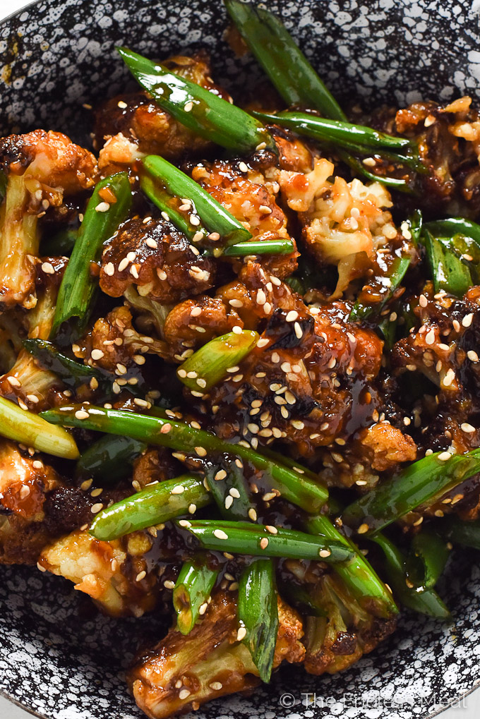 Baked General Tso's Cauliflower | A super easy to make and healthy weeknight meal. | theendlessmeal.com